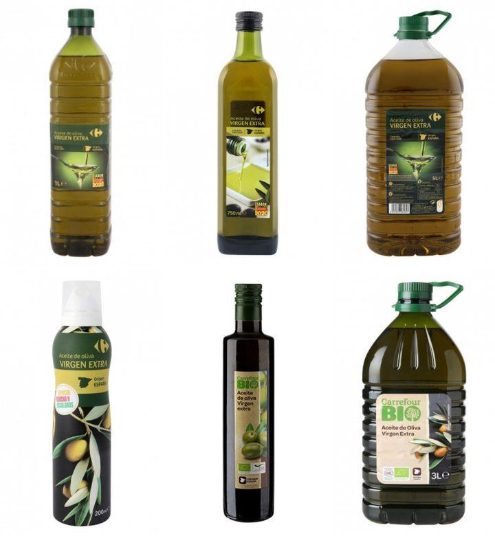 Oferta de aceites de oliva virgen extra de Carrefour.