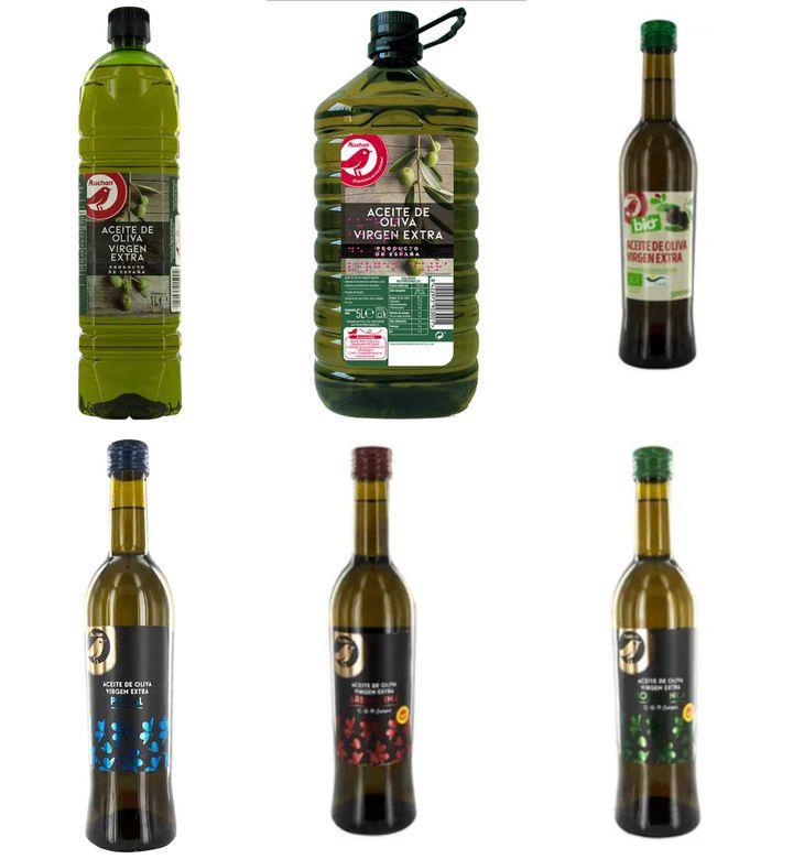 Aceites de oliva virgen extra de Alcampo.