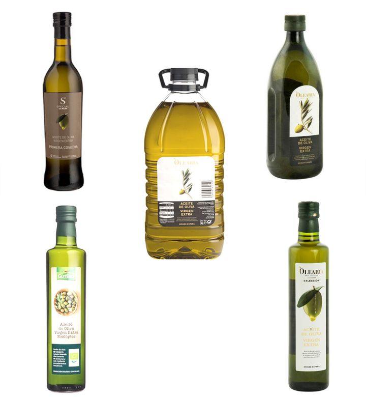 Aceites de oliva virgen extra de Aldi.