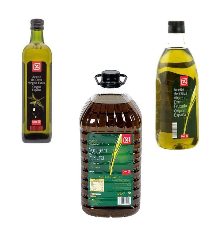 Aceites de oliva virgen extra de Dia.