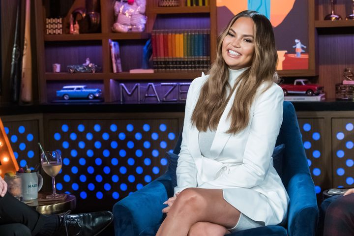 """Chrissy Teigen pictured during a previous appearance on """"Watch What Happens Live."""" On Tuesday, Teigen spoke on the show about"""
