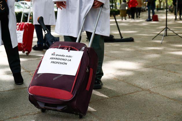 Concentración de sanitarios en Madrid este 20 de