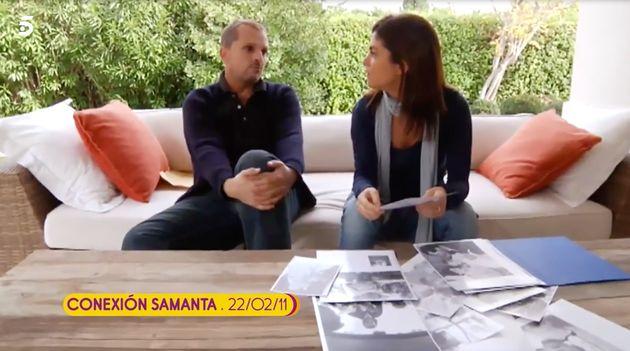 Miguel Bosé y Samanta Villar en 'Conexión Samanta' en