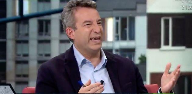 César Carballo, en el plató de 'La Sexta