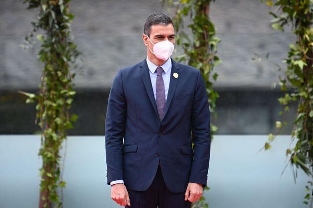 El presidente del Gobierno, Pedro Sánchez, este miércoles 21 de abril en Andorra, sede de la XXVII Cumbre