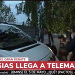 Pablo Iglesias llega en taxi al debate y ojo a quién es el