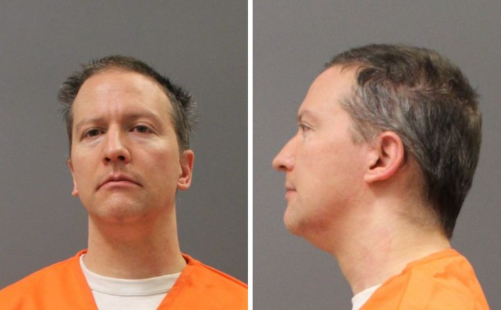 Derek Chauvin's prison system mugshot was taken April 20 after a jury convicted him of three counts in the murder George Floy