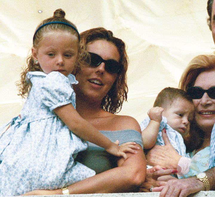 Rocío Carrasco con su hija, Rocío Flores, en Chipiona.