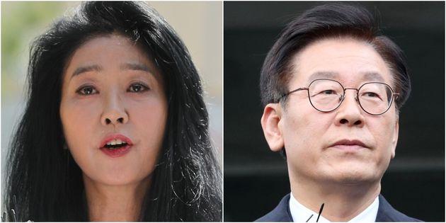 배우 김부선, 이재명