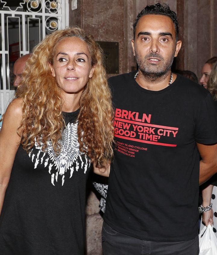Rocío Carrasco y Fidel Albiac.