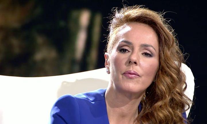 Rocío Carrasco en un momento de la entrevista.