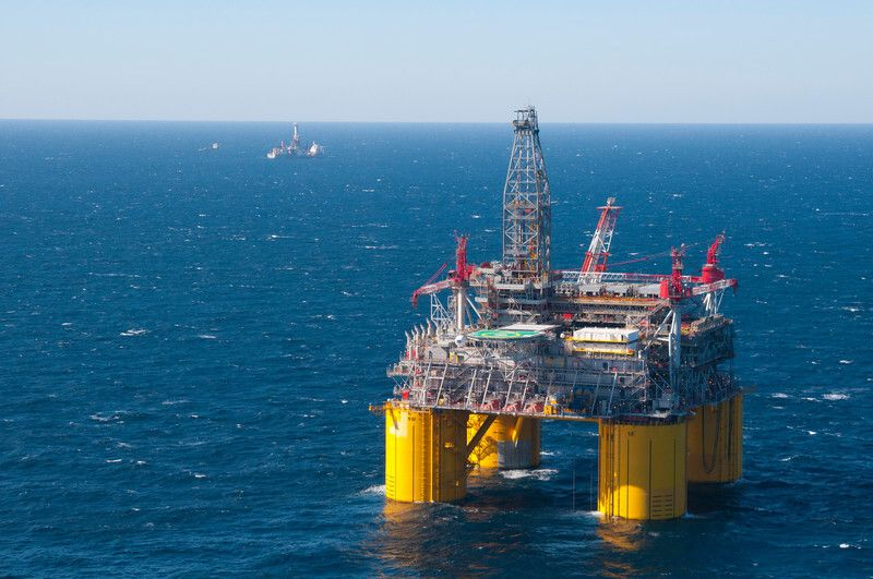 Shell's offshore platform Olympus, part of the company's Mars deepwater project, is pictured in the Mississippi Canyon area o