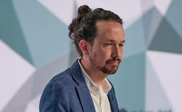 Pablo Iglesias, candidato de Unidas Podemos, durante el debate de
