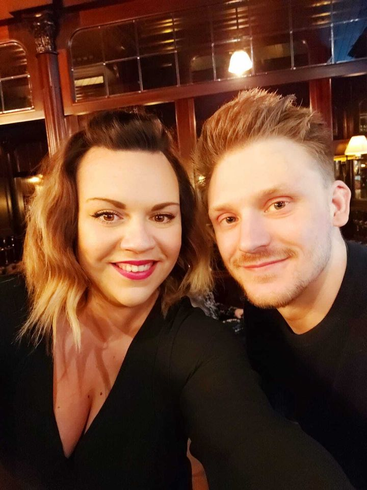 Becky Westerdale and her partner Keeton Smith