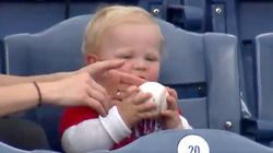Baby Trying To Eat A Phillies Home Run Is 'Absolute Cutie.' Team