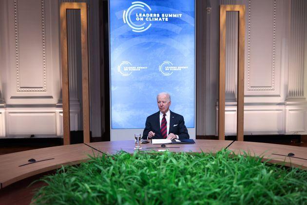 Ce 22 avril, lors du sommet sur le climat, Joe Biden a annoncé doubler l'objectif américain de réduction...