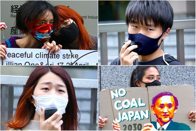 経産省前で行われた気候変動の抗議スタンディング