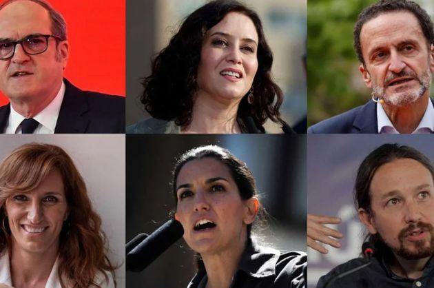 Los candidatos a las elecciones en Madrid del 4 de