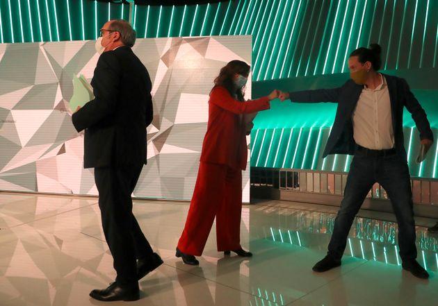 Gabilondo, García e Iglesias, tras el debate de