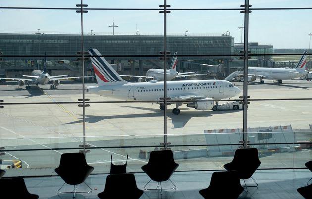 À l'aéroport Paris-Charles de Gaulle à Roissy-en-France, le 12 mai 2020. (photo