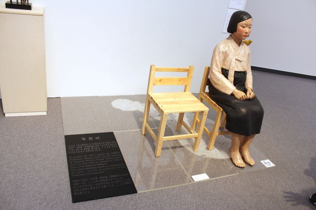 国際芸術祭「あいちトリエンナーレ2019」で展示された「平和の少女像」