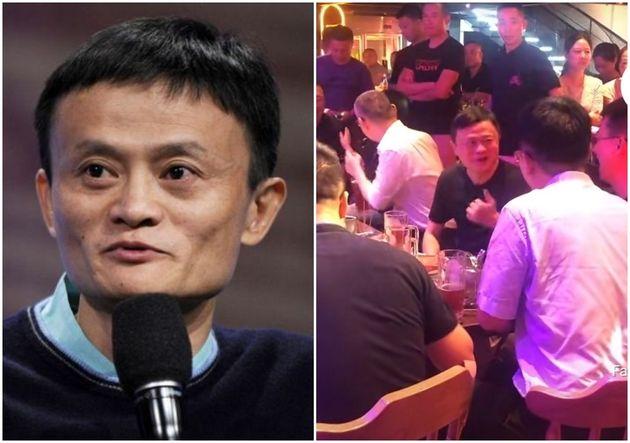 공산당 비판 발언했다가 실종설, 수감설 시달려온 중국 알리바바 창업자 마윈이 코로나 시국 '노마스크'로 클럽에