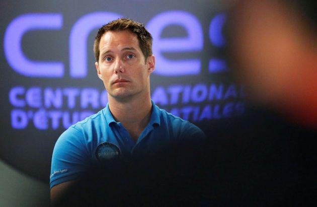 Thomas Pesquet lors d'un conférence au CNES de Toulouse, le 3 octobre