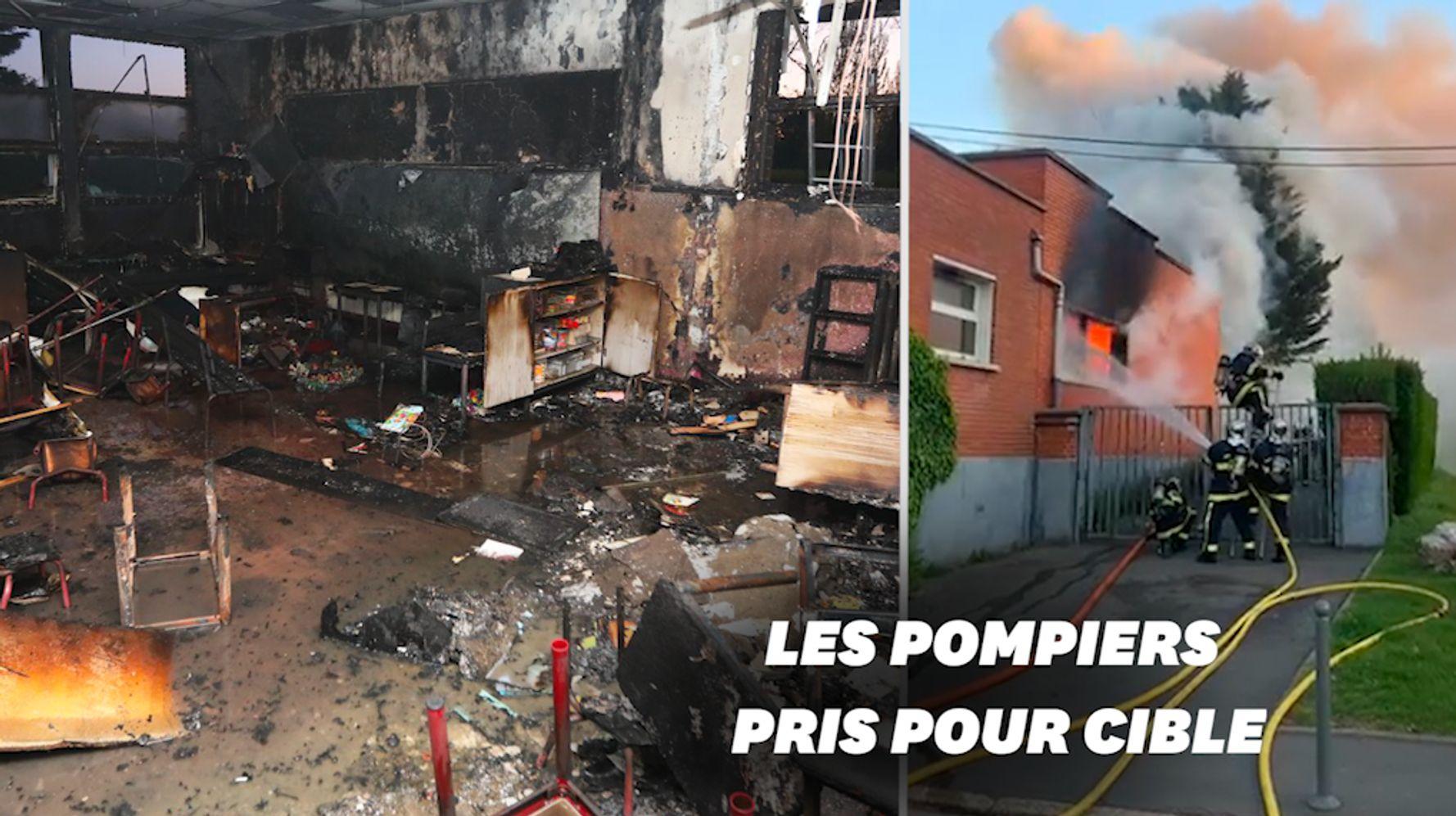 À Lille, un incendie ravage une école maternelle, Aubry dénonce un acte