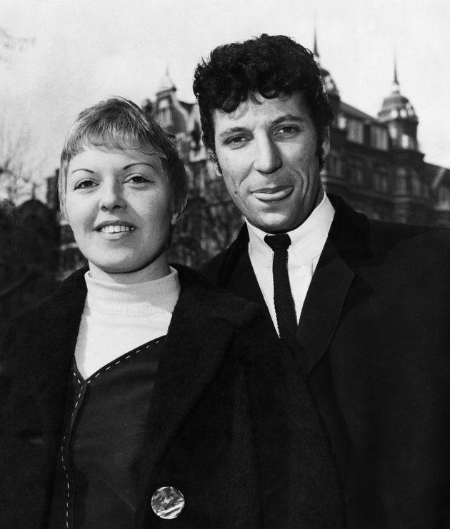 Tom Jones with his wife Linda in