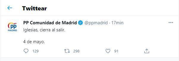 El tuit que ha borrado el