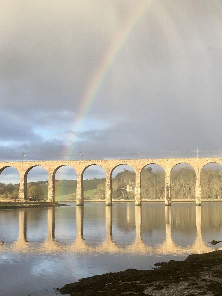 David Dunn snapped this rainbow at the Royal Border Bridge over the Tweed at Berwick.