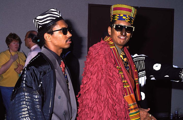 Shock G of Digital Underground attends the 1990 MTV Video Music Awards.