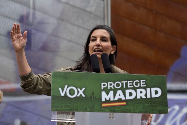 Rocío Monasterio, candidata de Vox a las elecciones de la Comunidad de