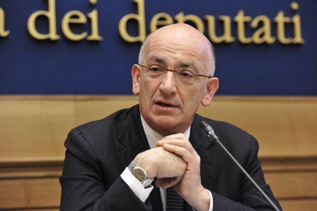 13/03/2014 Roma,conferenza stampa del relatore della legge elettorale per illustrare l'Italicum, nella...