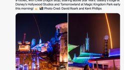 米ディズニー『スペース・マウンテン』からロケット打ち上げ?絶妙な構図に「100点」と反響(写真)