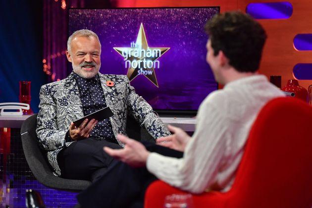 Graham Norton interviewing Josh O'Connor last