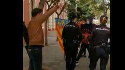 Gabriel Rufián se encara a un grupo de fascistas que lo insultaban en
