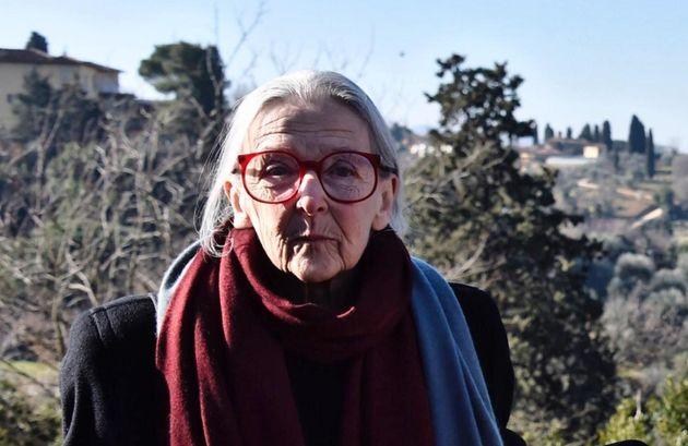 Ludovica Ripa Di Meana partecipa all'intitolazione al piazzale Michelangelo di un belvedere al dantista...