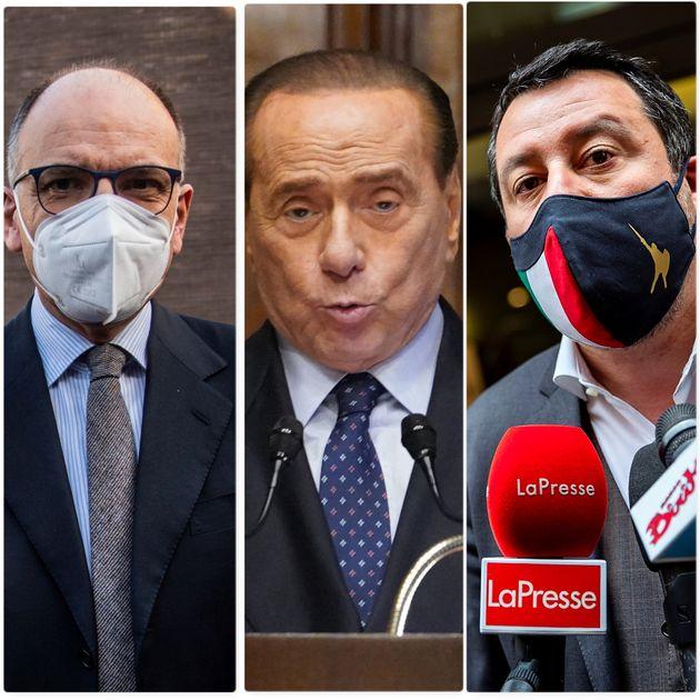 Enrico Letta, Silvio Berlusconi e Matteo