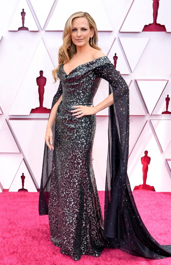 LOS ANGELES, CALIFORNIA – APRIL 25: Marlee Matlin attends the 93rd Annual Academy Awards at Union Station on April 25, 2021 i