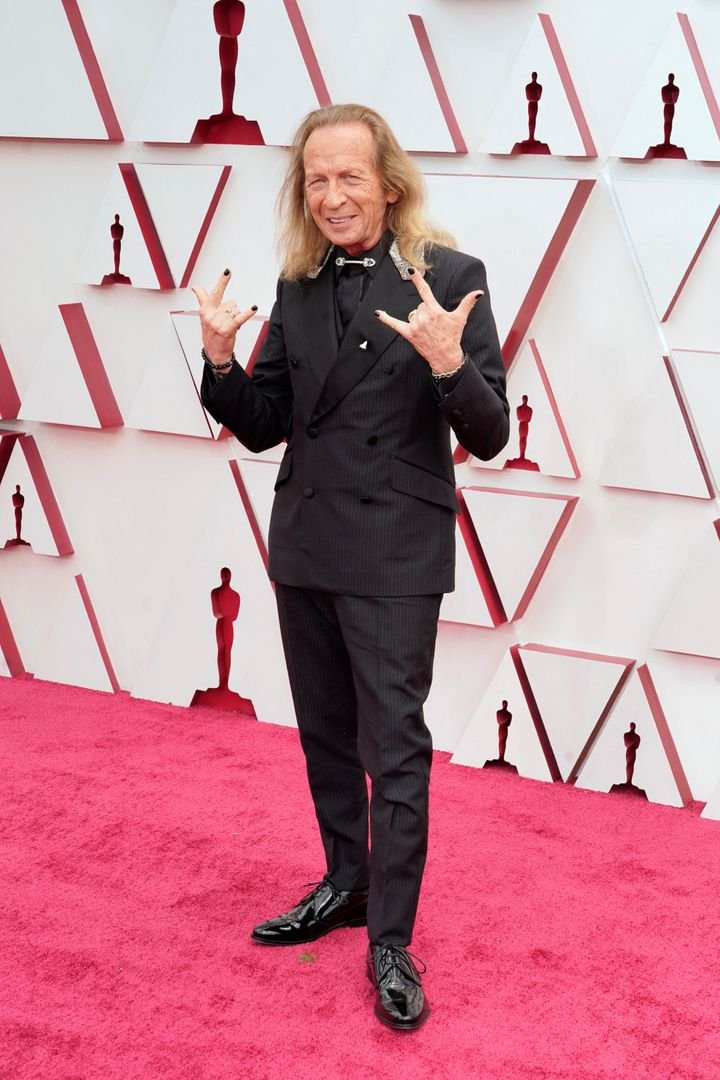 Paul Raci arrives at the 2021 Oscars in Los Angeles.