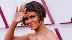Halle Berry Debuts New Bob On Oscars Red