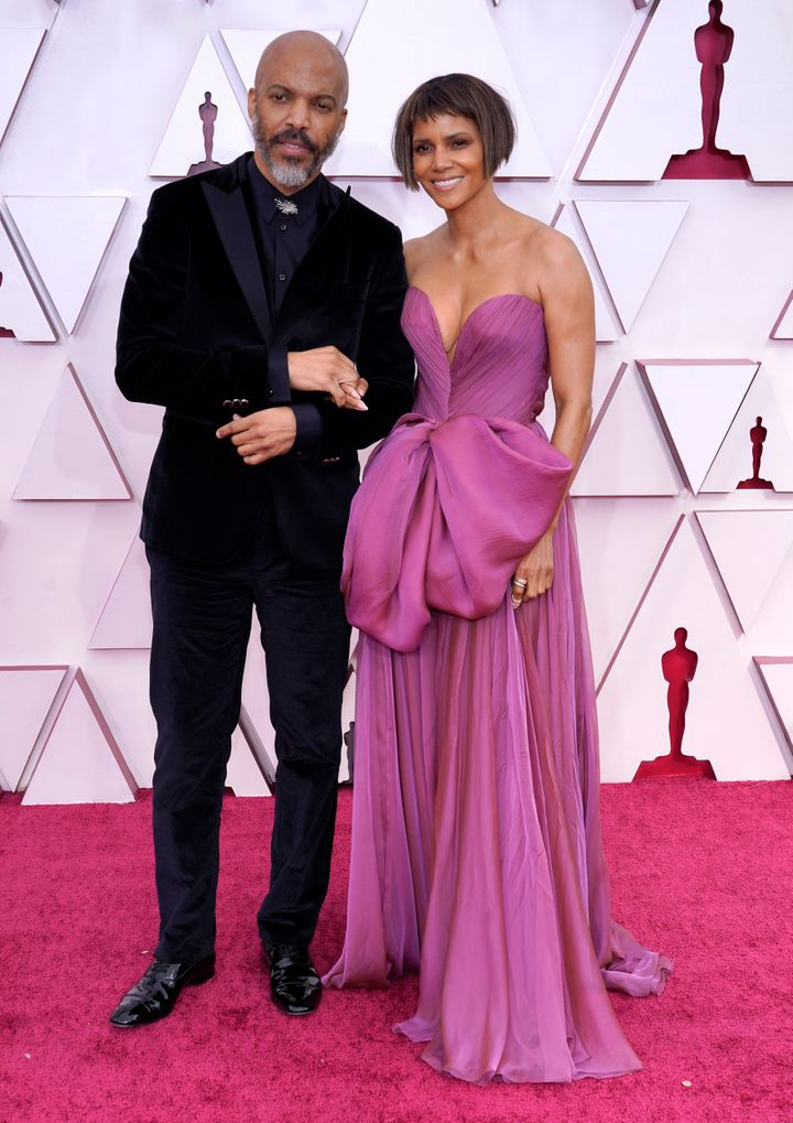 Van Hunt and Halle Berry attend the 93rd Annual Academy Awards on April 25, 2021, in Los Angeles, California.