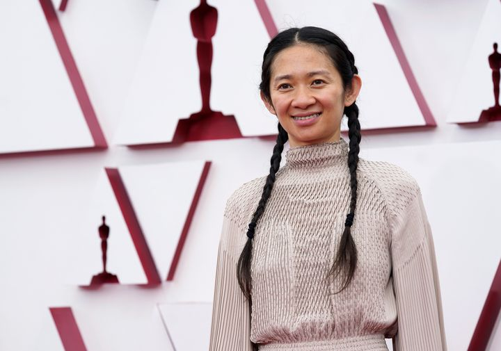 Chloé Zhao attends the 93rd Annual Academy Awards on Sunday. She took home the award for Best Director.