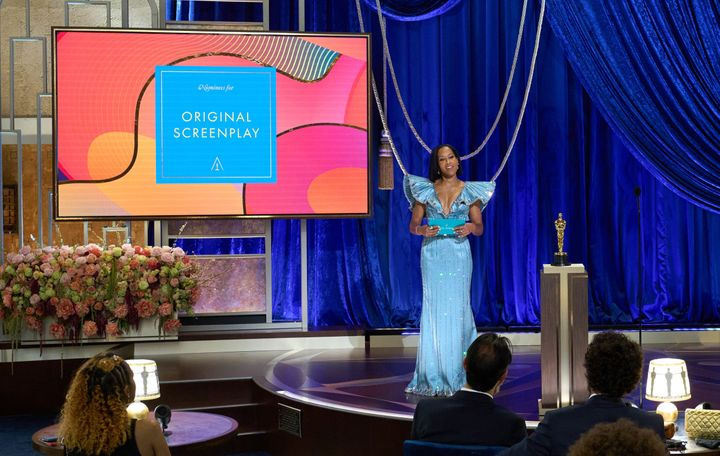 Regina King speaks onstage during the 93rd Annual Academy Awards.