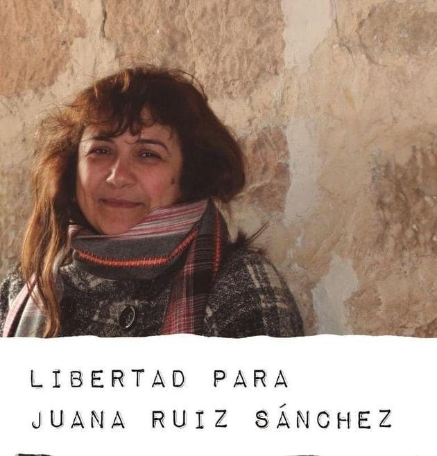 Juana Ruiz, en una imagen de la red que pide su liberación en