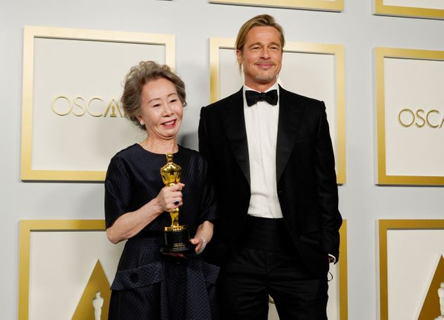 ユン・ヨジョンとブラッド・ピット、アカデミー賞の会場で
