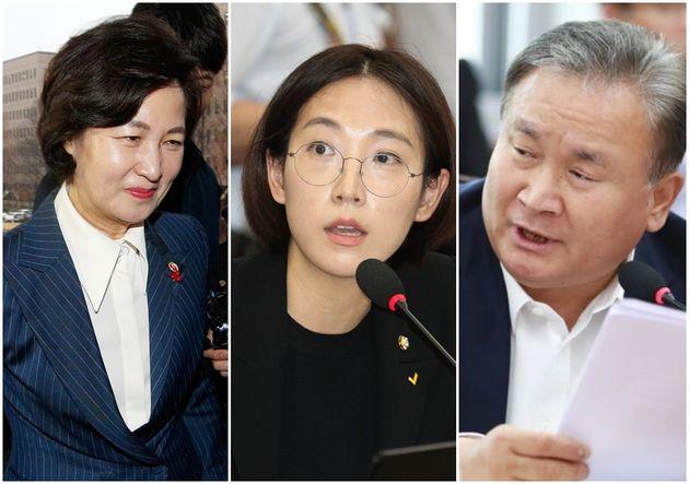 추미애 전 법무부 장관, 장혜영 정의당 의원, 이상민 더불어민주당