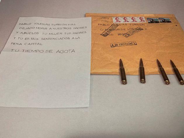 Amenaza de muerte dirigida a Pablo Iglesias y a miembros de su familia en la sede del Ministerio del