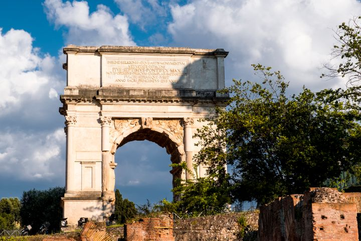 Ruins of the ancient Rome in the Roman Forum. (Photo by: Dani Salva / VWPics/Universal Images Group via Getty Images)